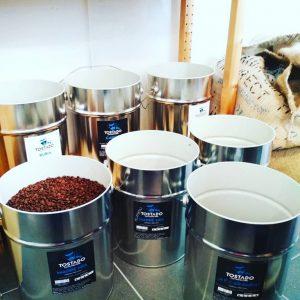 Abfüllung von frischem Kaffee